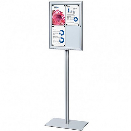 A2 Freestanding Lockable Magnetic Dry Wipe Noticeboard
