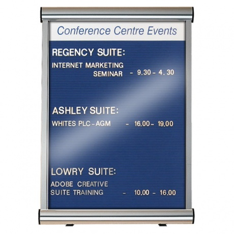 Variatex Lockable Grooved Felt Welcome Board | Wall Mounted with Printed Title Plate