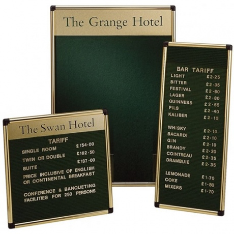 Grooved Felt Welcome Board | Wall Mounted with Printed Title Plate