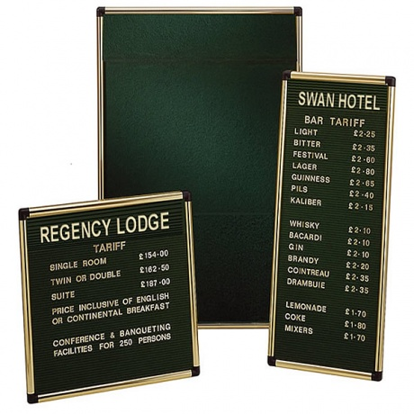 Variatex Grooved Felt Welcome Board | Wall Mounted