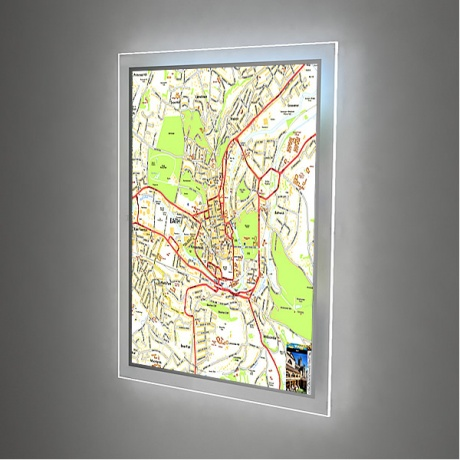 A0 LED Illuminated Wall Map
