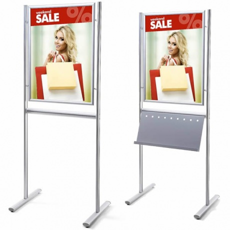 A1/70 x 100cm Info Board Poster Display & Brochure Holder | Single & Double Sided