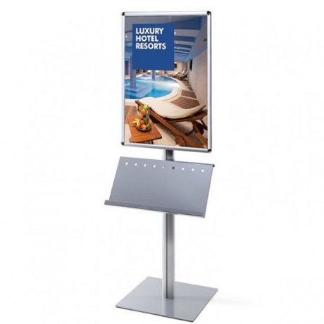 A1/70 x 100cm Info Pole Poster Display & Brochure Holder | Single Sided