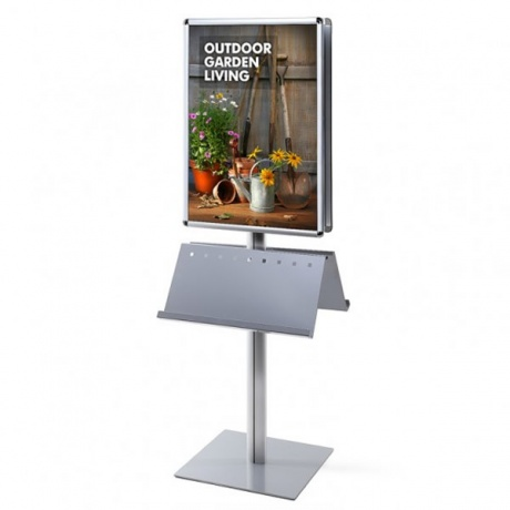 A1/70 x 100cm Info Pole Poster Display & Brochure Holder | Double Sided