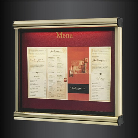 Scroll Exterior Menu Case | Optional Vinyl Text Printing on Glazing