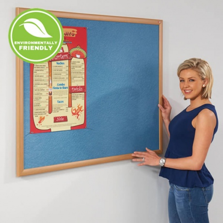 Metroplan Wood Framed Noticeboard - Eco-Friendly