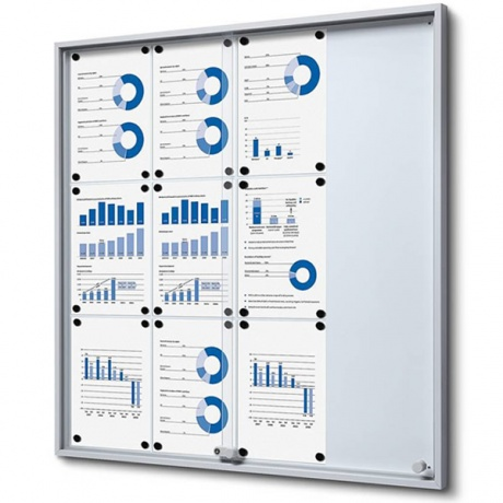 Sliding Door Magnetic Noticeboard