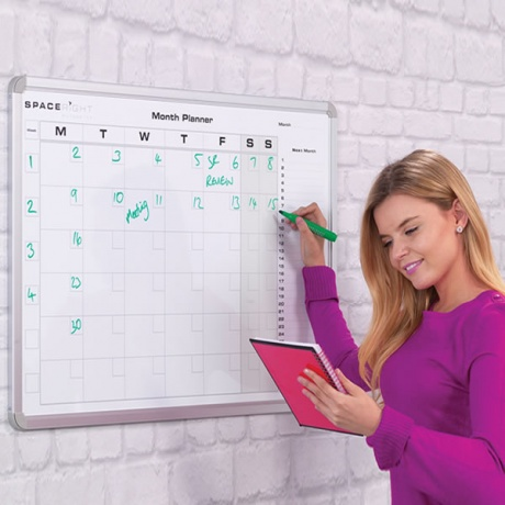 Monthly Planning Magnetic Whiteboard
