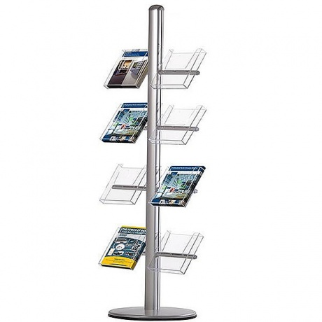8 x A4 Modular Literature Dispenser | Clear Acrylic Pockets