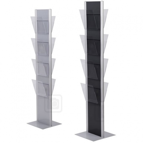 4/8 x A4 Onyx Brochure Stand (Clear Pockets)