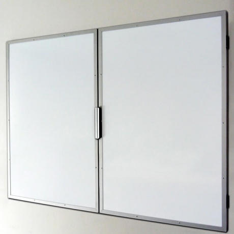Premium Flat Frame Lockable Confidential Magnetic Whiteboard