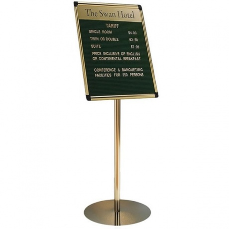 Variatex Grooved Felt Welcome Board | Stand Mounted with Printed Title Plate