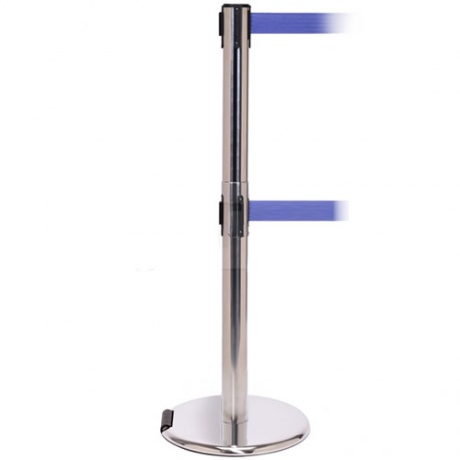 RollerPro Twin Retractable Belt Barrier Post- 3.4 Metres