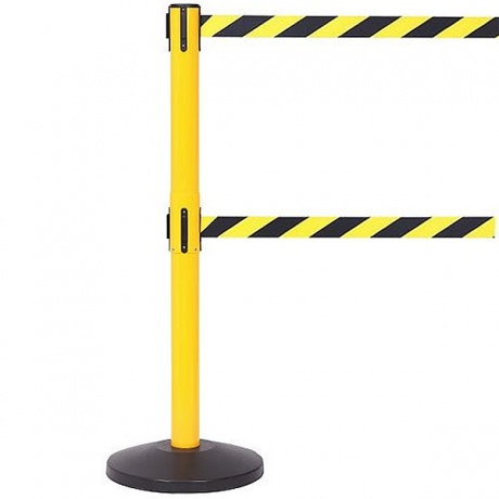 SafetyMaster Twin High Vis Retractable Belt Barrier - 2 x 3.4 Metres