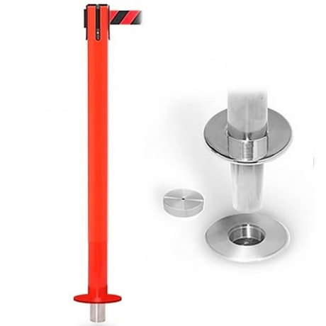 SafetyPro 335 Removable Retractable Belt Barrier Post - 10.6 Metres