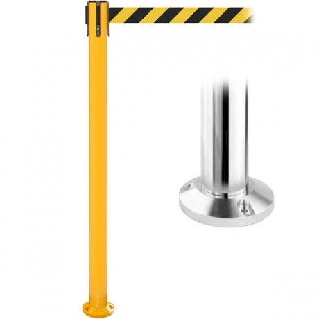 Fixed Position SafetyPro 335 Retractable Belt Barrier - 10.6 Metres