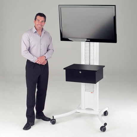 Secure Mobile TV Stand