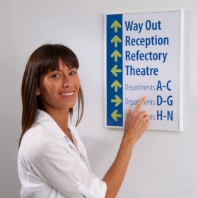 ShowPoint Sign Frames With Colourful Decor Strips