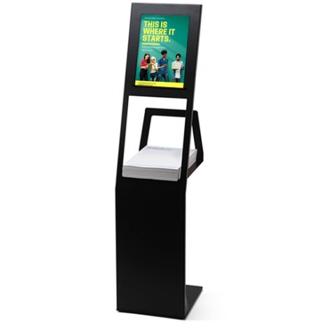 Slim Catalogue Stand With A4 Magnetic Poster Display Holder