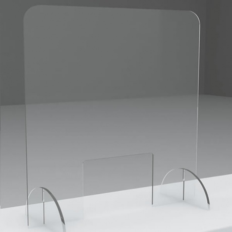 Freestanding Sneeze Screen - 700 H x 600mm W | With Cut Out