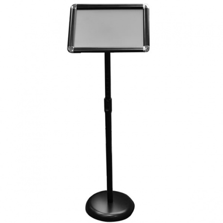 A4 Angled Telescopic Information Stand in Black
