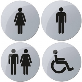 Toilet Signs with Self Adhesive Backing