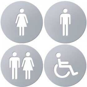 Laser Cut Toilet Signs with Self Adhesive Backing
