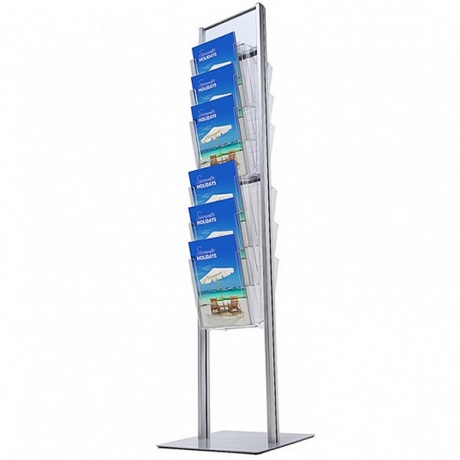 12 x A4 Tower Brochure Stand - Double Sided