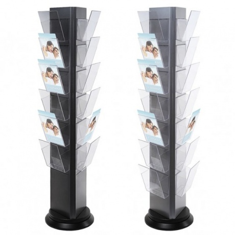 18/21 x A4 Trys Rotating Brochure Stand - 3 Sided