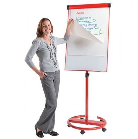 Ultimate Multi-Colour Mobile Magnetic Dry Wipe Flip Chart Easel