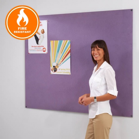 Metroplan Resist-a-Flame Frameless Noticeboard | Eco Friendly