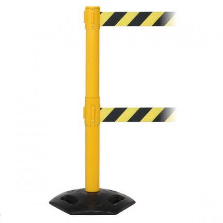 WeatherMaster Twin Retractable Belt Barrier - 3.4 / 4.9 Metres