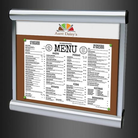 Scroll Exterior Menu Case | With Internal Digitally Printed Header