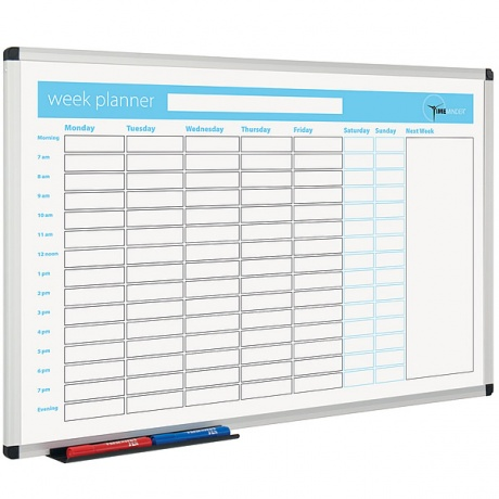 Week Planner Magnetic Dry Wipe Board