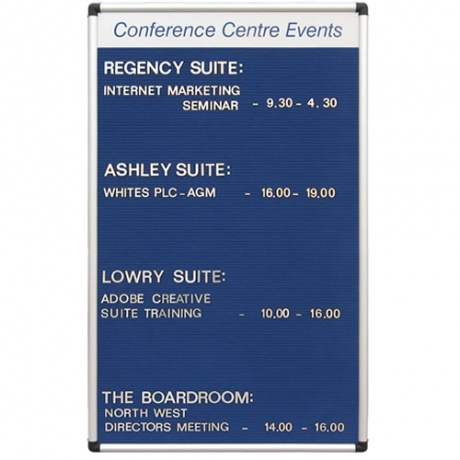 Variatex Grooved Felt Welcome Board | with Printed Title Plate