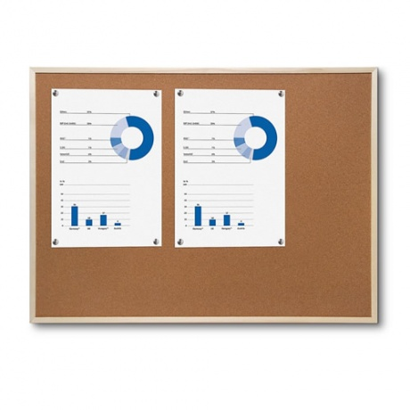 Economy Wood Framed Cork Noticeboard