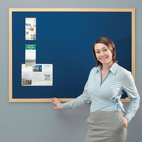 Metroplan Wood Framed Felt Noticeboard