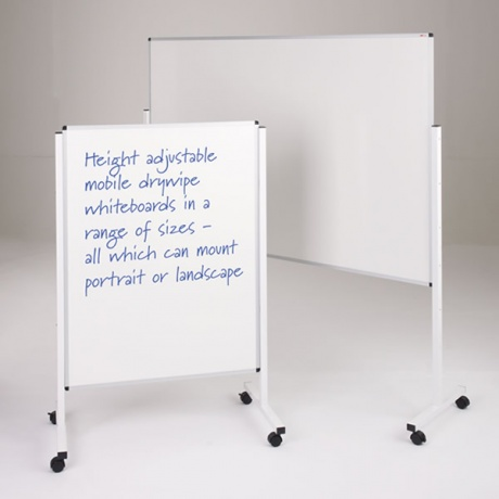 WriteOn Height Adjustable Mobile Whiteboard