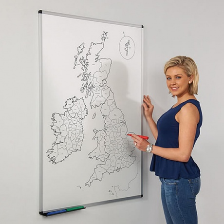 UK County Map Magnetic Whiteboard