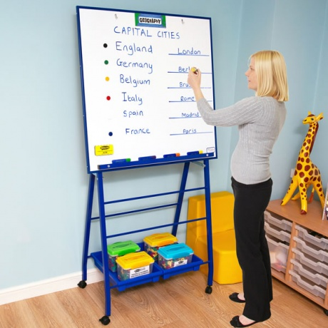 Large School Front of Class Whiteboard Easel | Height Adjustable