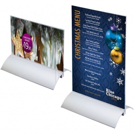 Elegance Acrylic Menu & Leaflet Holder With Aluminium Base