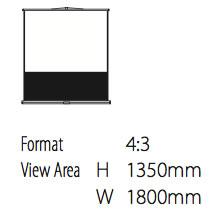 Deluxe Projection screen Free Standing