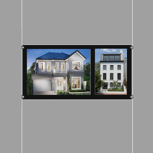Cable Display A3 Landscape Kit Double Sided Estate Agent Window Sign Choose Size