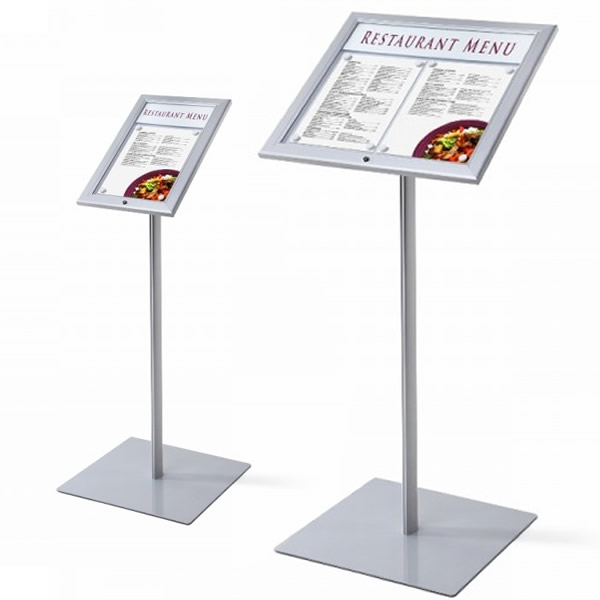 Attirant Bistro Lockable Outside Menu Display Stand