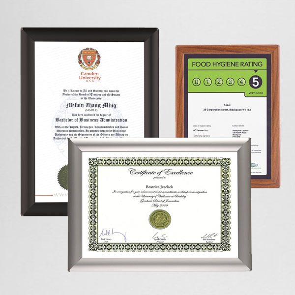 A4 BusyGrip Certificate Snap Frame | Wall/Desk Mounting