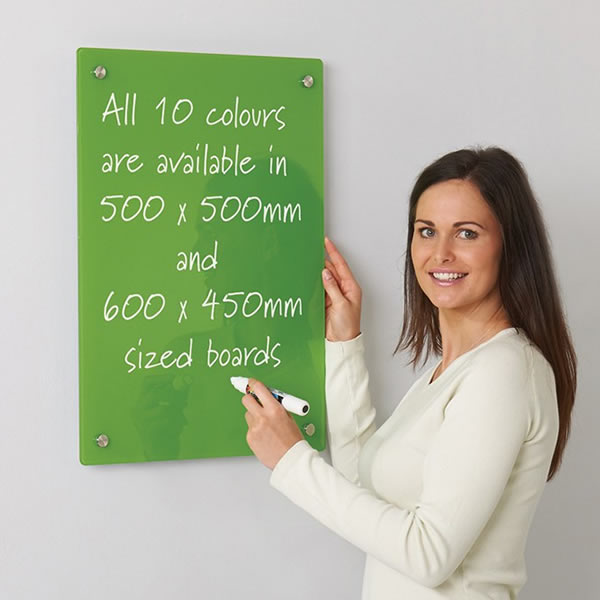 Small Coloured Glass Magnetic Writing Board