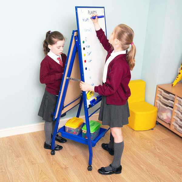 Double Sided Classroom Whiteboard Easel