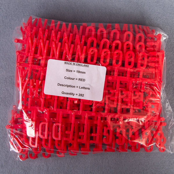 Red Econ Peg Letter Character Sets
