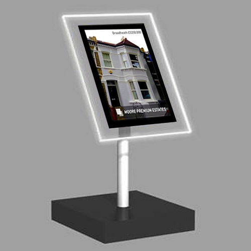 A4 Portrait Freestanding Light Panel | With Bevel