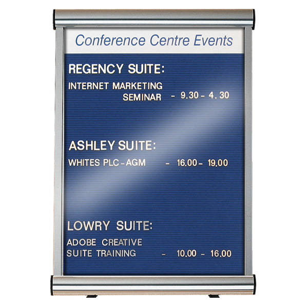Lockable Grooved Felt Welcome Board | Wall Mounted with Printed Title Plate